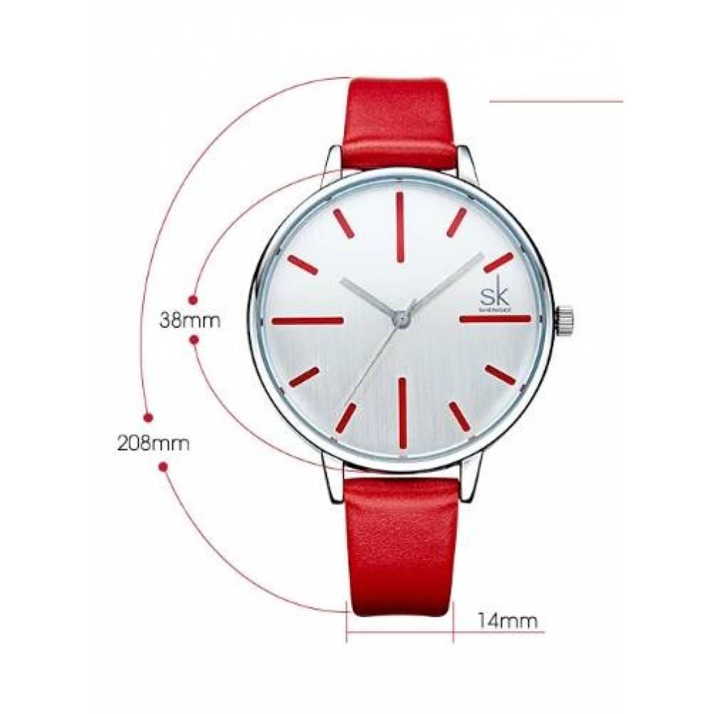 Женские Часы наручные SK красные 2766