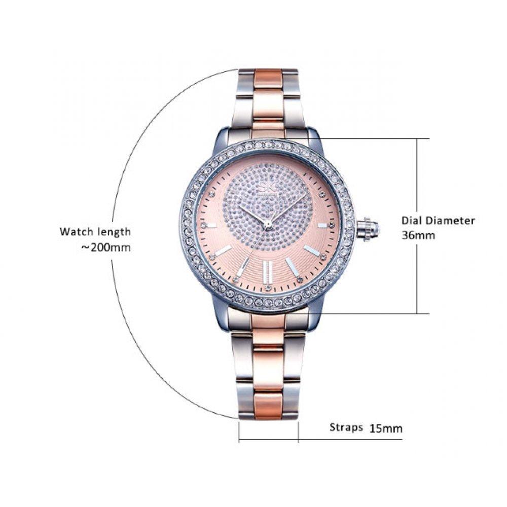 Женские Часы наручные SK розовые 2769