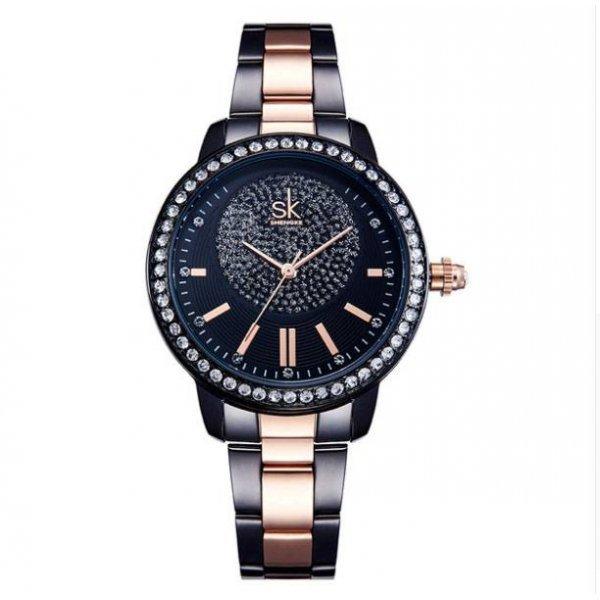 Часы SK черно золотые 2820