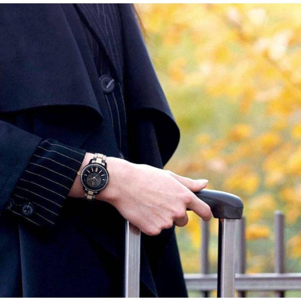 Женские Часы наручные SK черно золотые 2820