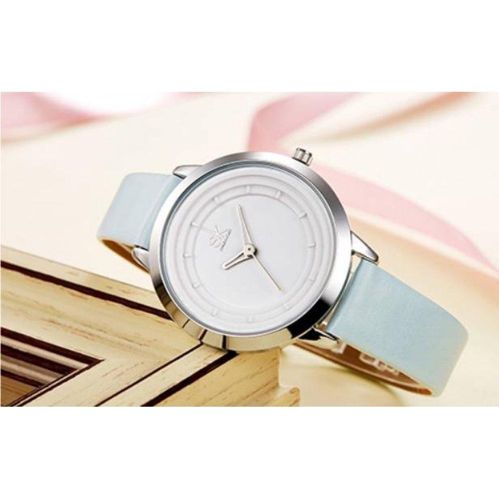 Женские Часы наручные SK, голубые 2822