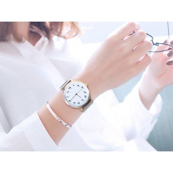 Часы CCQ белые 2859