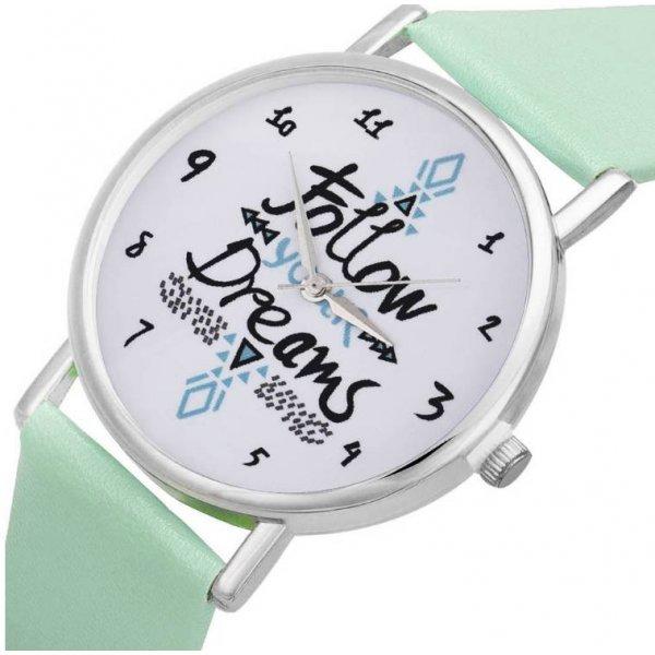 Часы Следуй за мечтой зеленые 2865