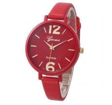Женские Часы наручные Genvivia красные 2867