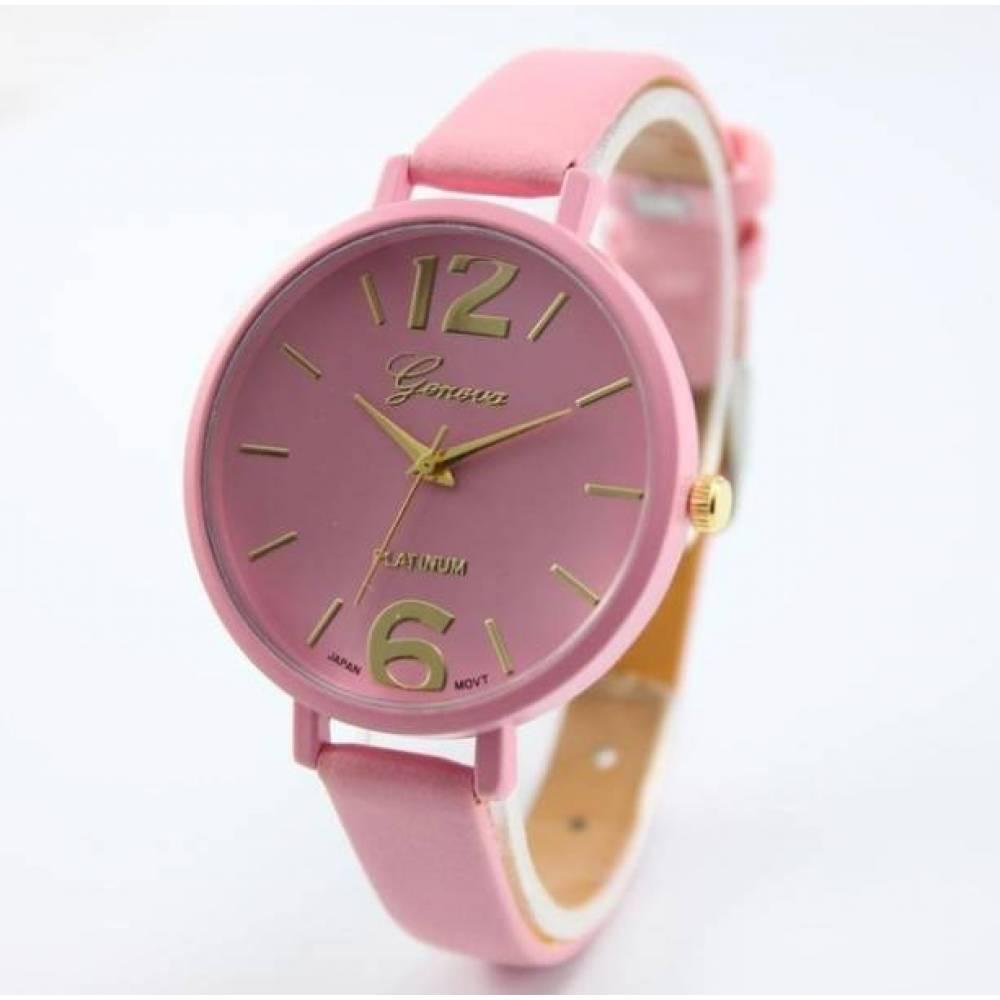 Женские Часы наручные Genvivia розовые 2868