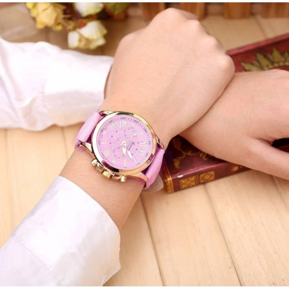 Женские Часы наручные Susenstone розовые 2872