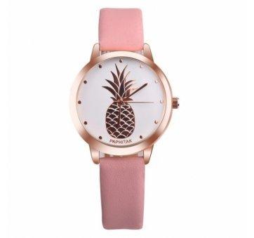 Женские Часы наручные  Susenstone с ананасом розовые 2873