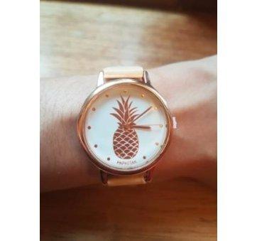 Женские Часы наручные Susenstone с ананасом золотые 2874