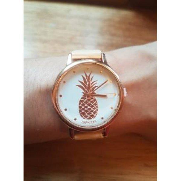 Часы Susenstone с ананасом золотые 2874