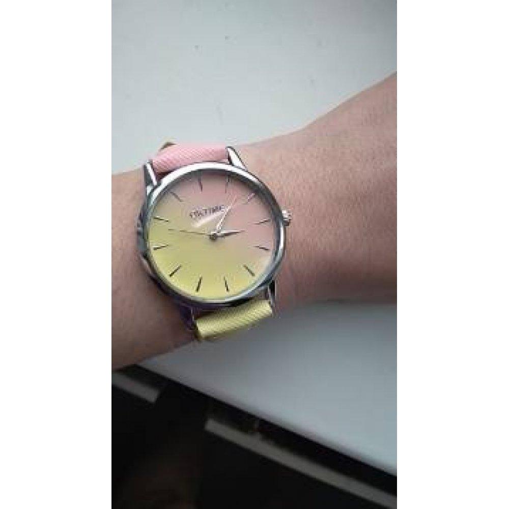 Женские Часы наручные Tangnade розовые с сиреневым 2878