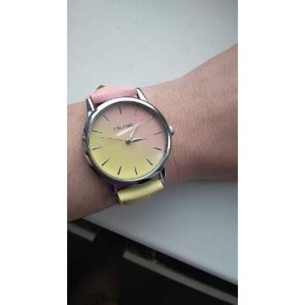 Часы Tangnade розовые с голубым 2876
