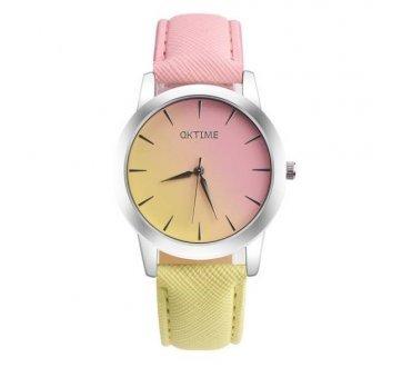 Женские Часы наручные Tangnade розовые с желтым 2877