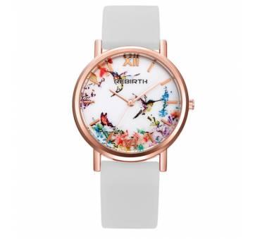 Женские Часы наручные REBIRTH цветы, белые 2903