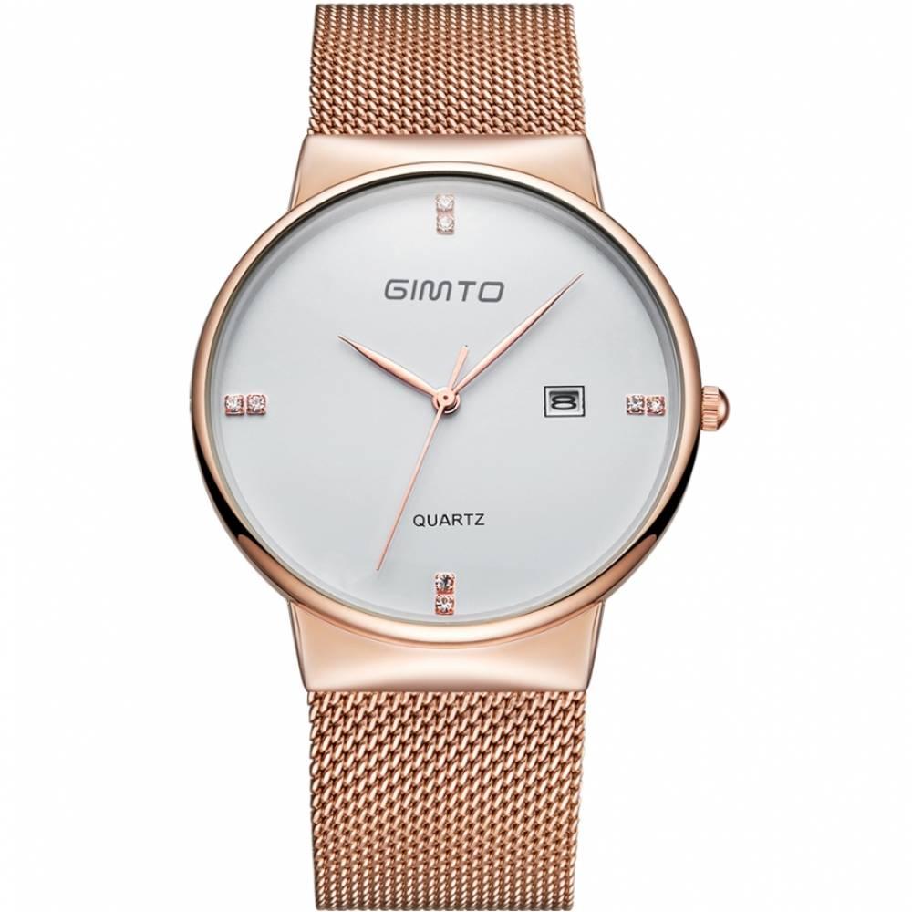 Женские Часы наручные GIMTO белые/золото 2908