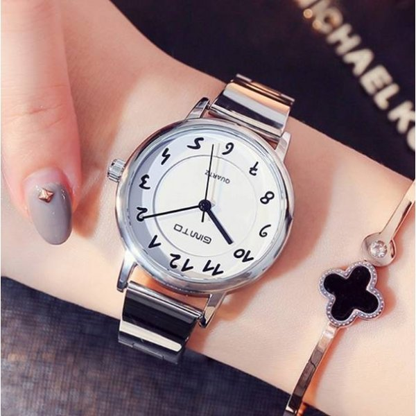 Часы GIMTO белые 2913