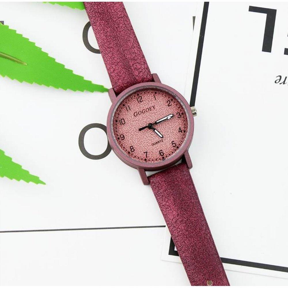 Женские Часы наручные Gogoey красные 2947