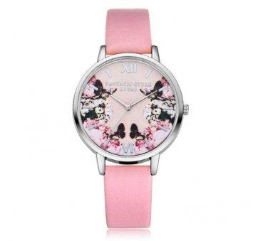 Женские Часы наручные LVPAI бабочки, розовые 2951