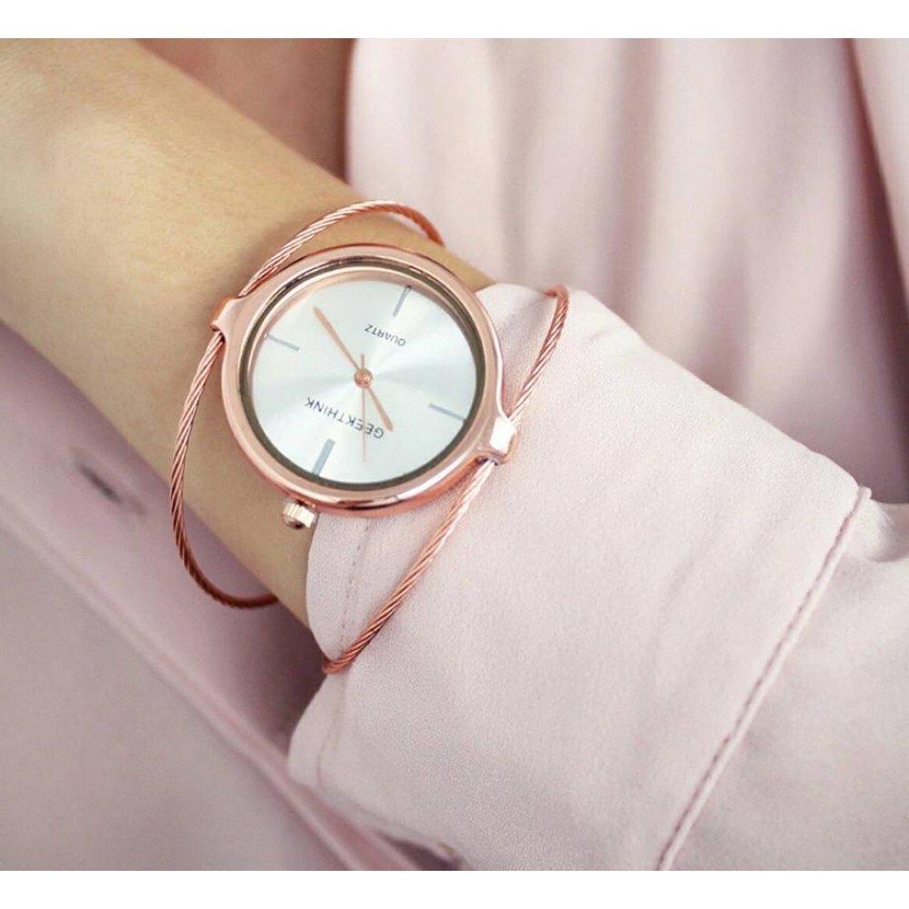 Женские Часы наручные Geekthink, Золотистые 2968