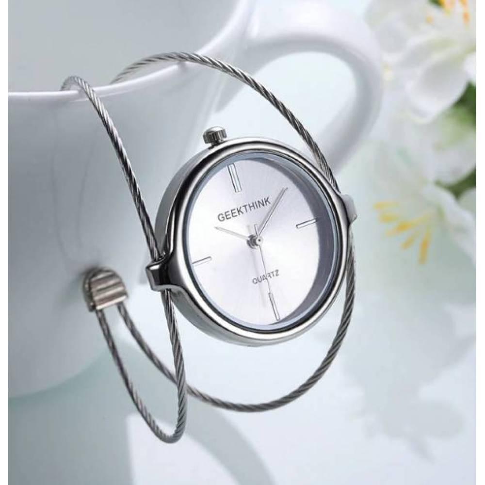 Женские Часы наручные Geekthink, Серебристые 2967