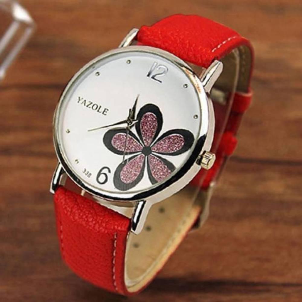Женские Часы наручные Yazole, красные 2972