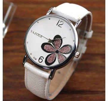 Женские Часы наручные Yazole, белые 2973