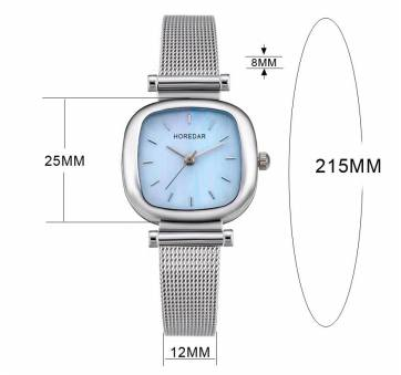 Женские Часы наручные HOREDAR, голубые 2982