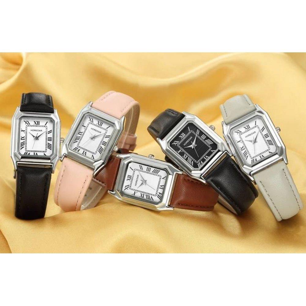 Женские Часы наручные HOREDAR, розовые 2986