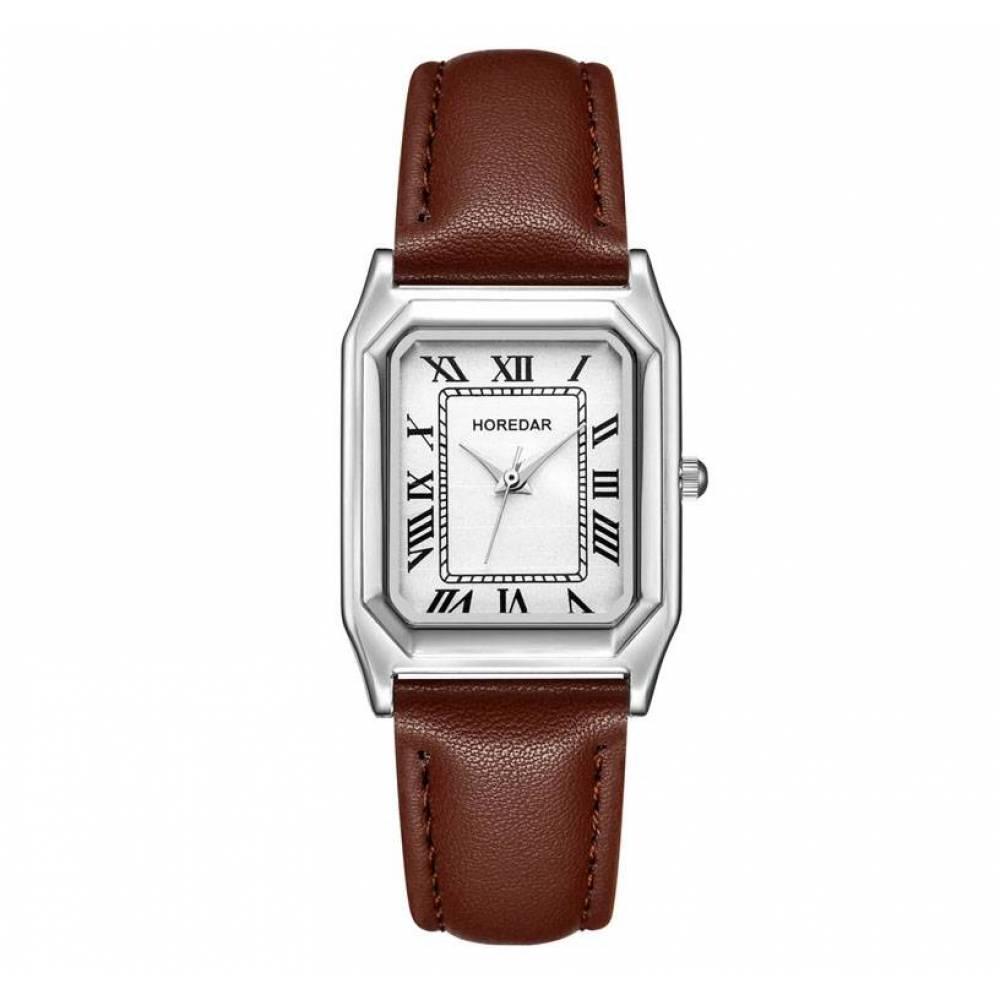 Женские Часы наручные HOREDAR, коричневые 2988