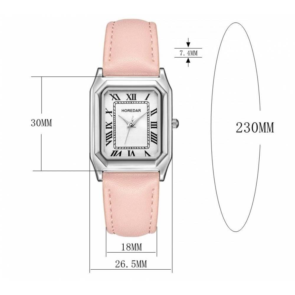 Женские Часы наручные HOREDAR, черные 2989