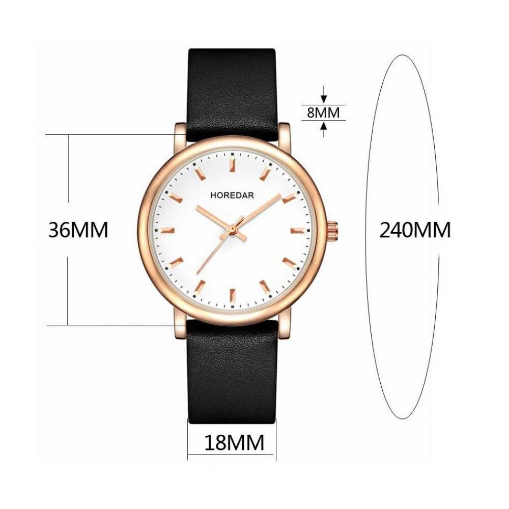 Женские Часы наручные HOREDAR, черные 2992