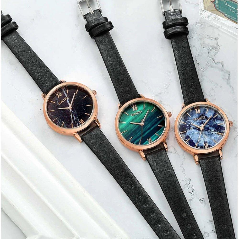 Женские Часы наручные Naidu, голубые 2998