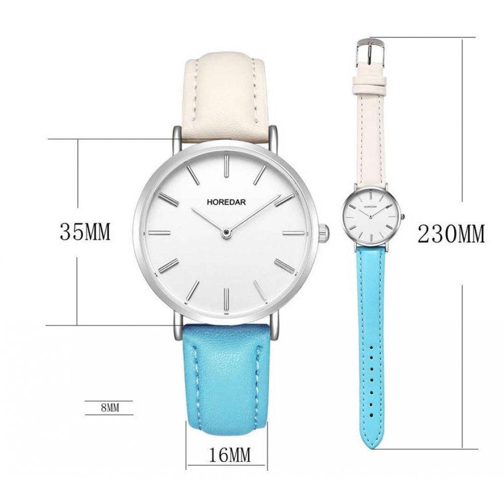 Женские Часы наручные HOREDA, голубые 3001
