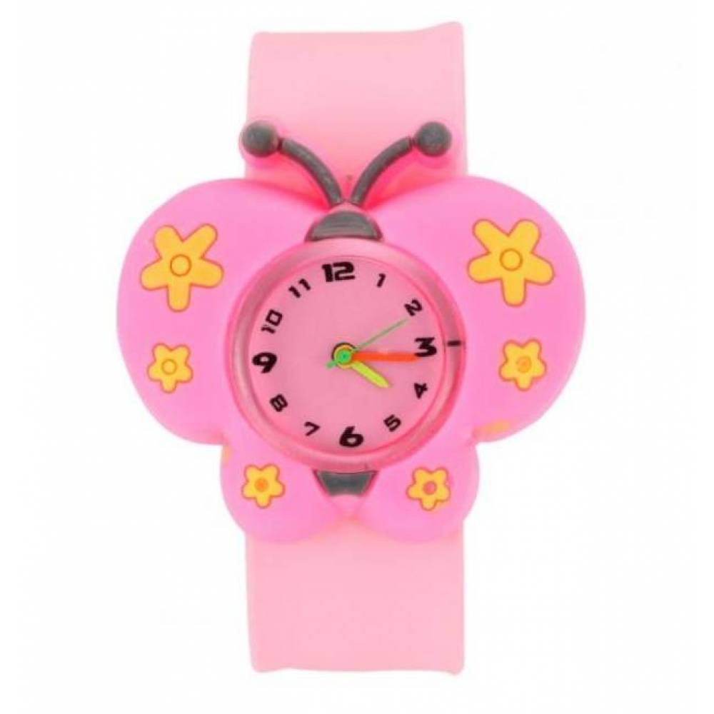 Детские Часы наручные Vedd Бабочка, розовые 3005