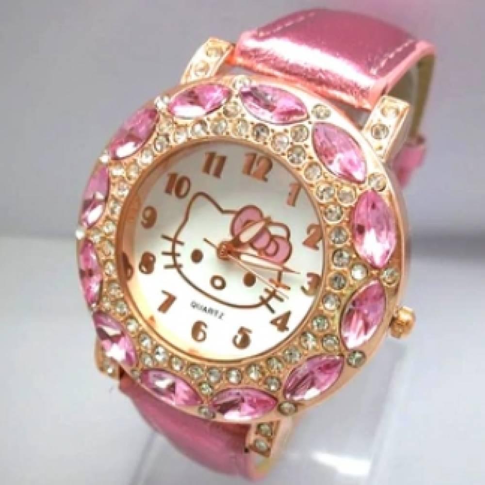 Детские Часы наручные Hello Kitty, розовые 3010