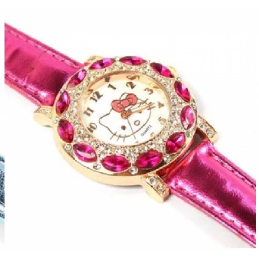 Детские Часы наручные Hello Kitty, розовые 3011