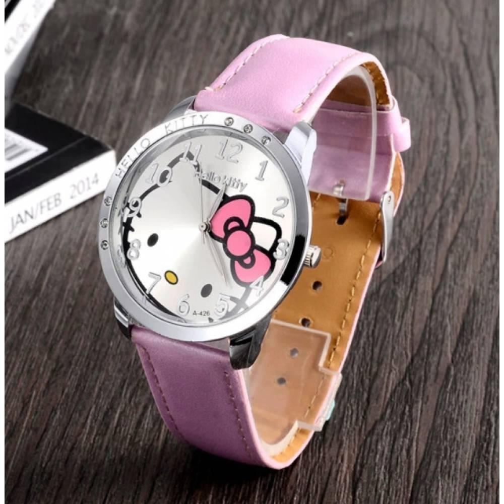 Детские Часы наручные Hello Kitty, розовые 3012
