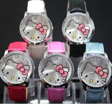 Детские Часы наручные Hello Kitty, белые 3014