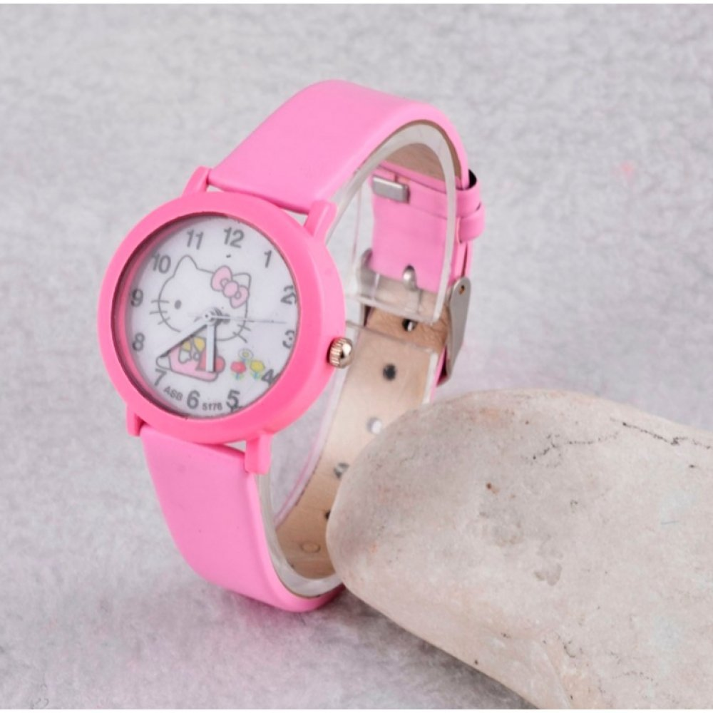 Детские Часы наручные Hello Kitty, розовые 3015