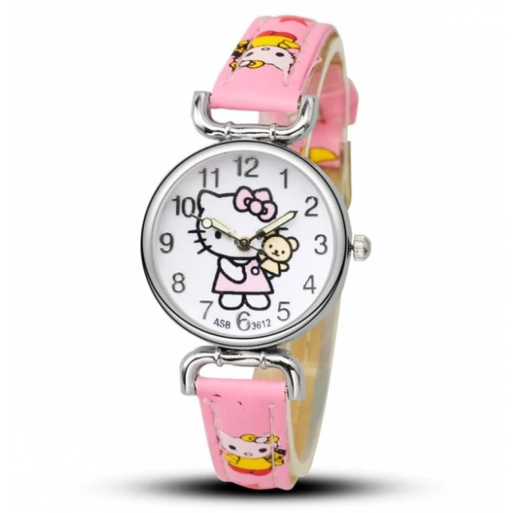 Детские Часы наручные Hello Kitty, розовые 3016