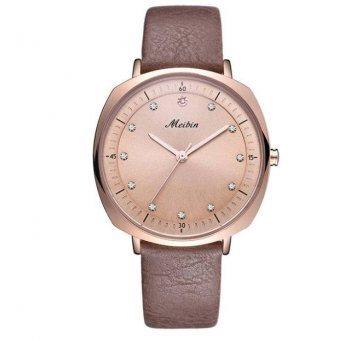 Женские Часы наручные Meibin, коричневые 3020
