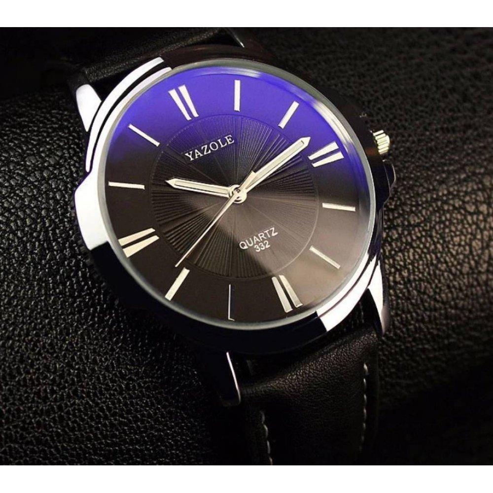 Мужские Часы наручные Yazole, черные 3056