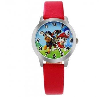 Детские Часы наручные Мультфильм, красные 3086