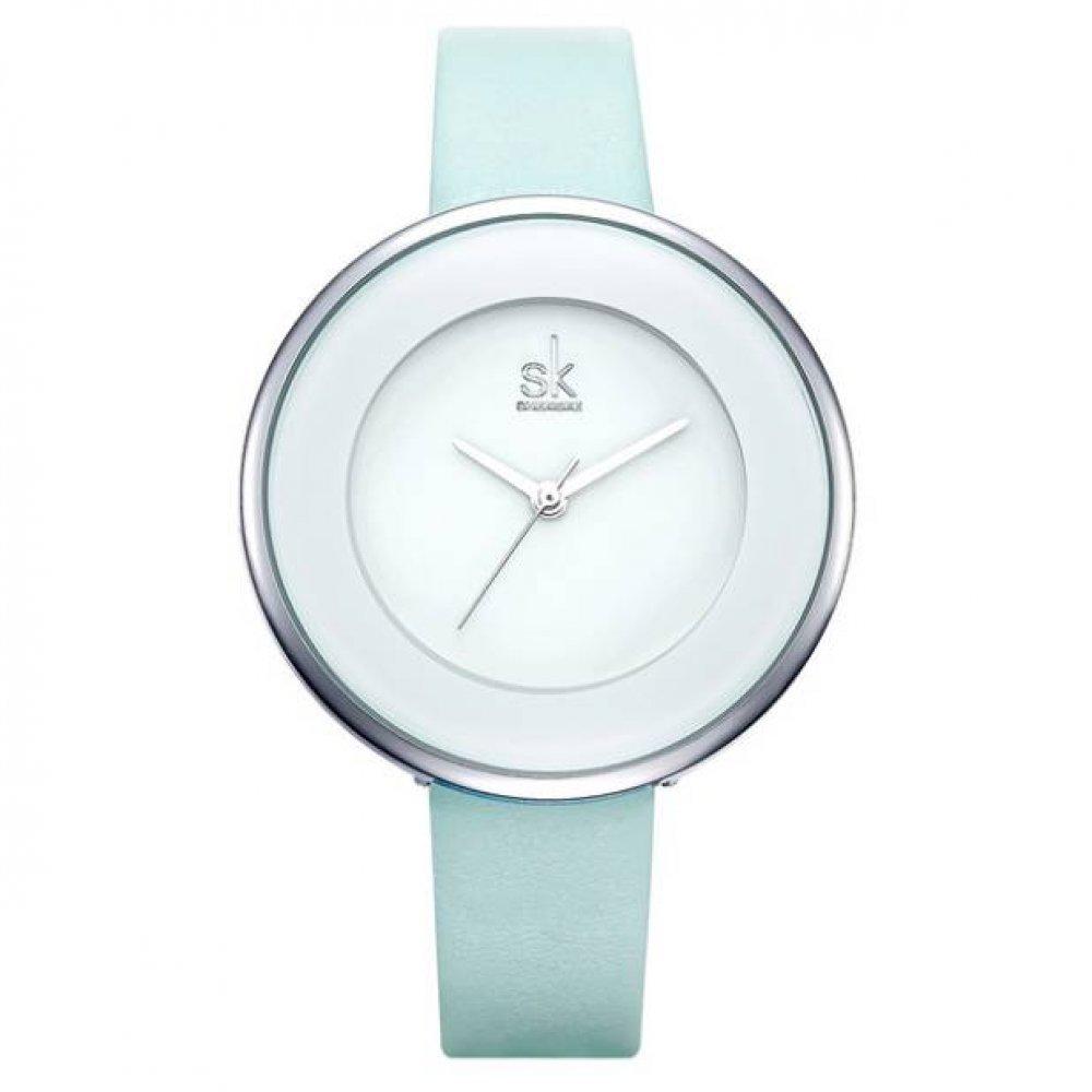 Женские Часы наручные SK голубые 3102