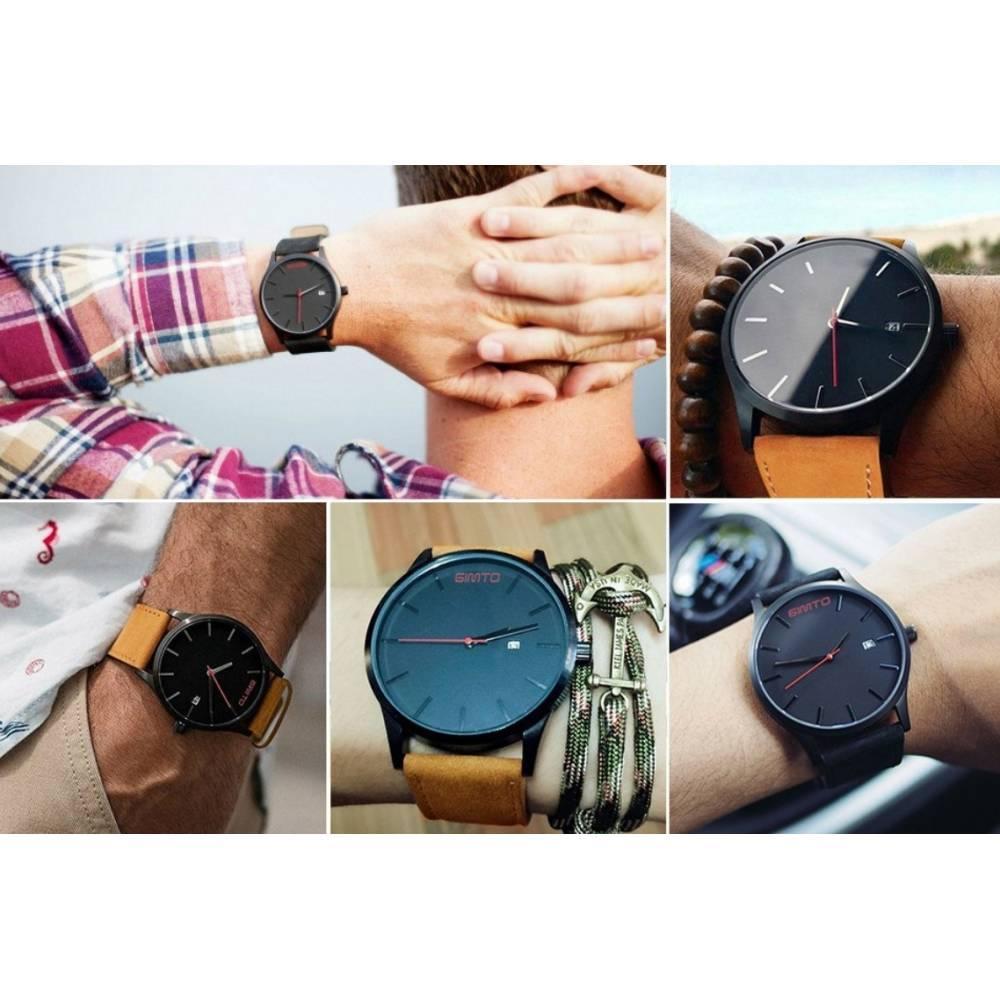 Мужские Часы наручные GIMTO, черные  3108