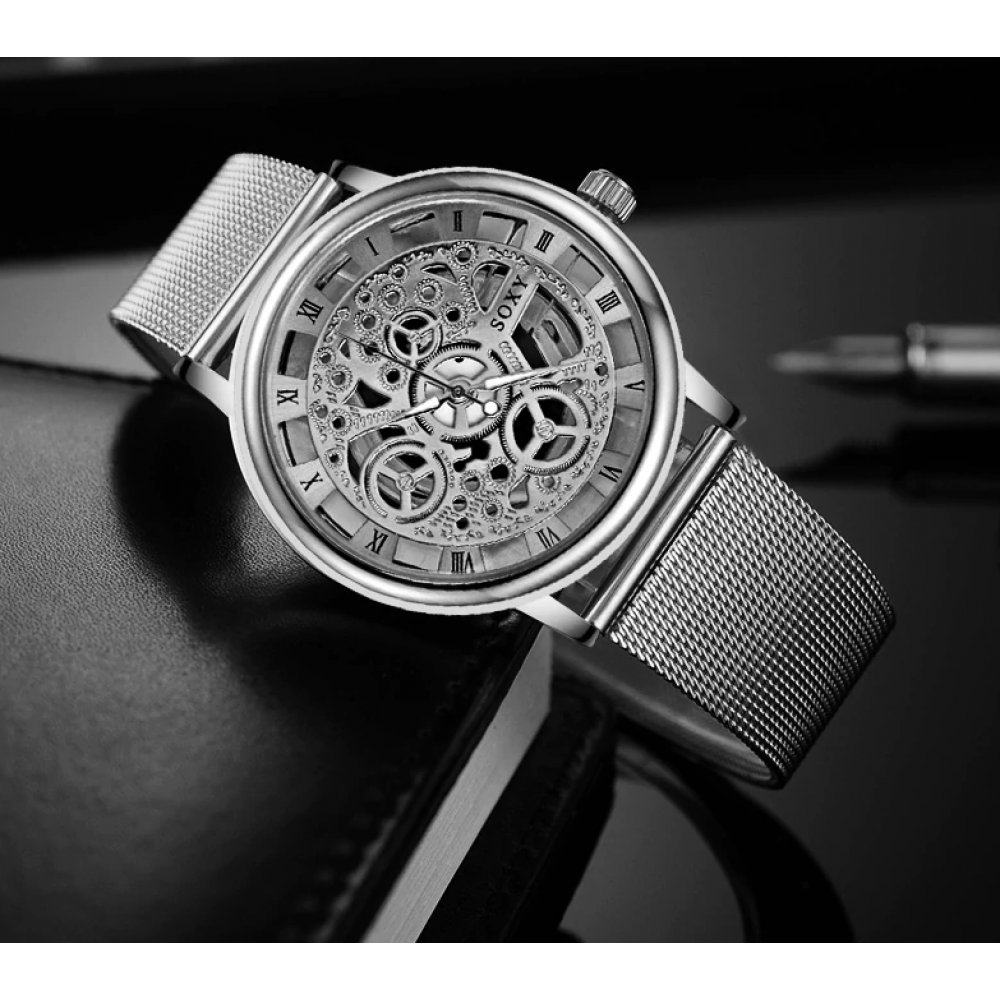 Женские Часы наручные SOXY, серебристые  3142