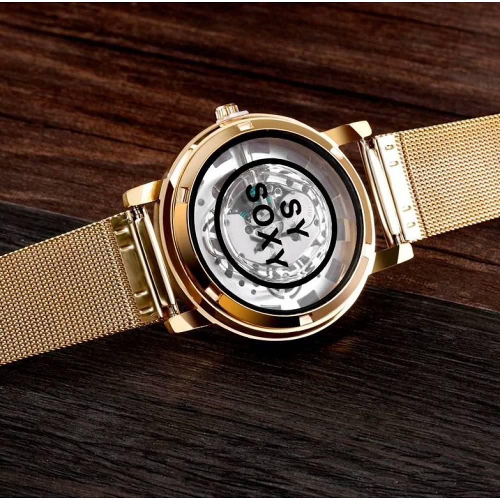 Женские Часы наручные SOXY, золотистые  3143