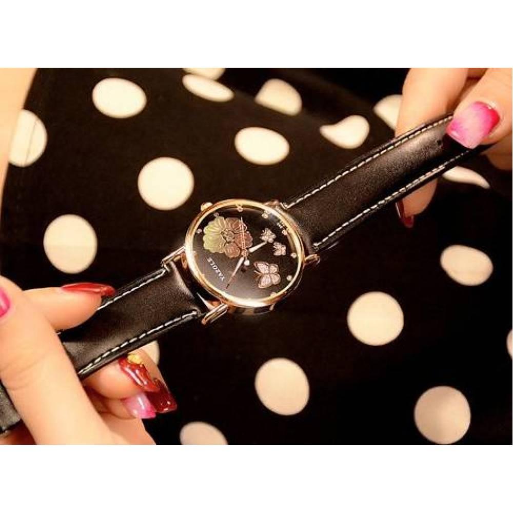 Женские Часы наручные Yazole черные 3148