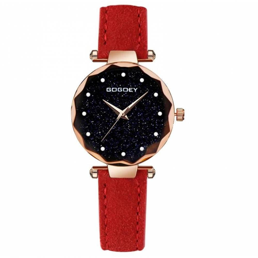 Женские Часы наручные Gogdey красные 3149