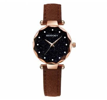 Женские Часы наручные Gogdey коричневые 3152
