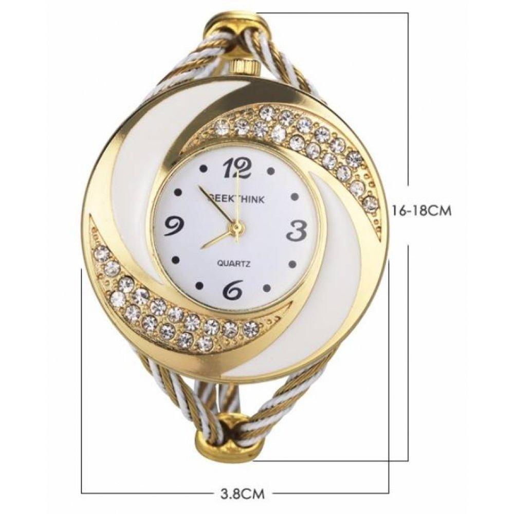 Женские Часы наручные Geekthink, золотистые 3169